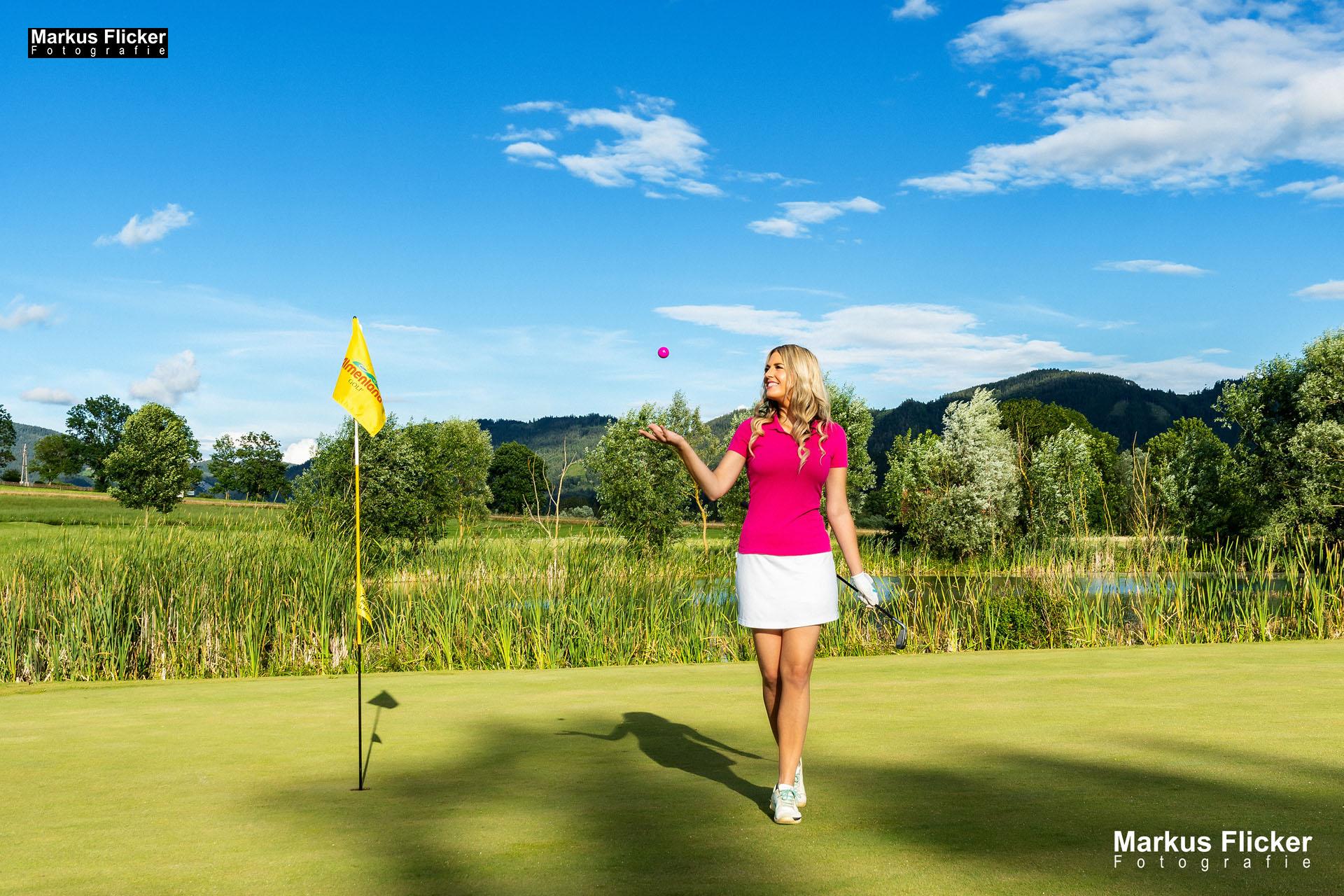Fotos Golfclub Almenland Golf Fotoshooting mit Silvia Reisinger