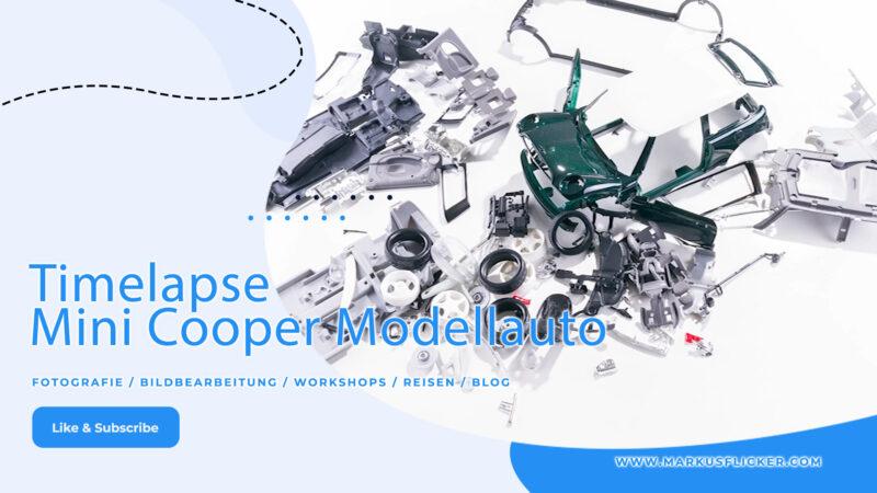 Timelapse Mini Cooper Modellauto Zusammenbau