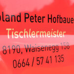 Tischlermeister Roland Peter Hofbauer