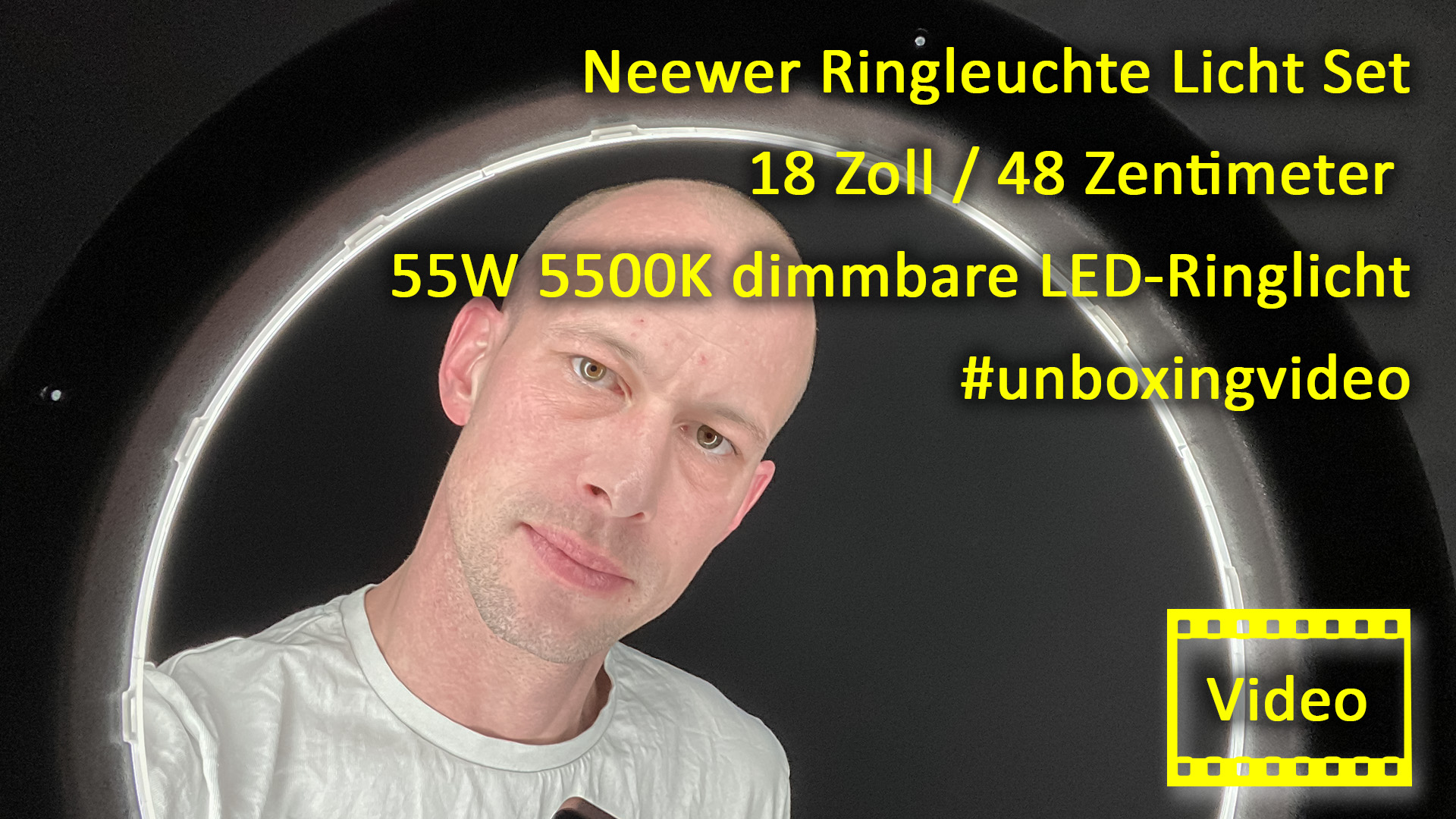 Neewer Ringleuchte Licht Set: 18 Zoll / 48 Zentimeter Außen 55W 5500K dimmbare LED-Ringlicht Lampenstativ Bluetooth-Empfänger für YouTube TikTok Self-Porträt der Videoaufnahme #unboxing #unboxingvideo