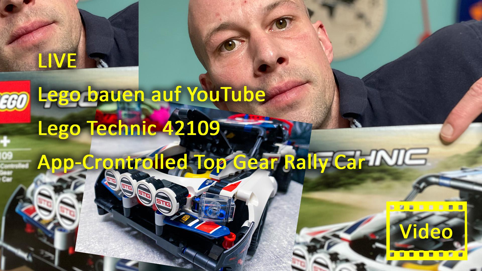 LIVE Lego bauen auf YouTube Lego Technic 42109 App-Crontrolled Top Gear Rally Car