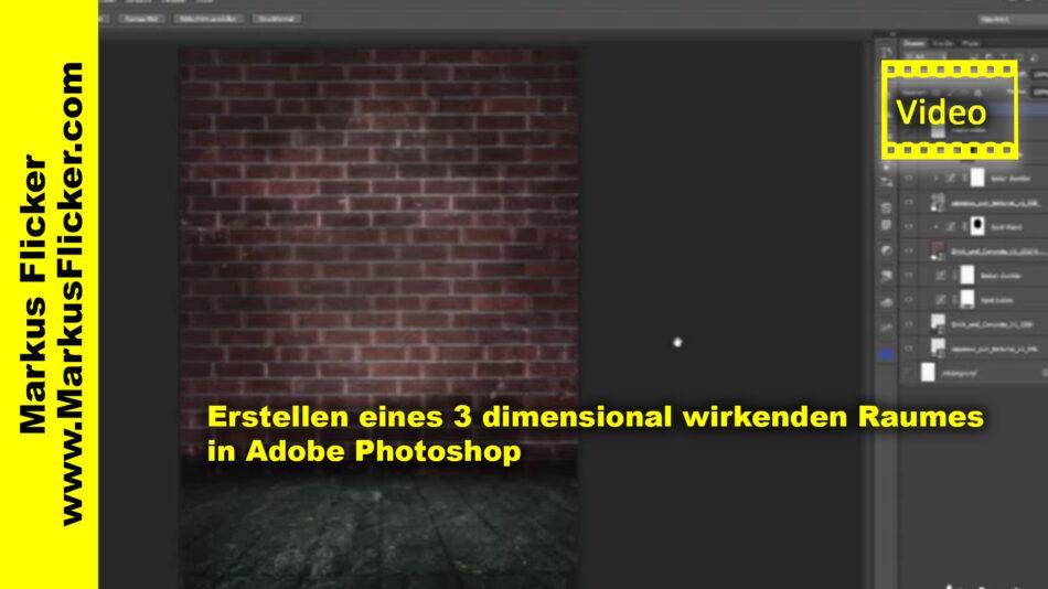 Erstellen eines 3 dimensional wirkenden Raumes in Adobe Photoshop