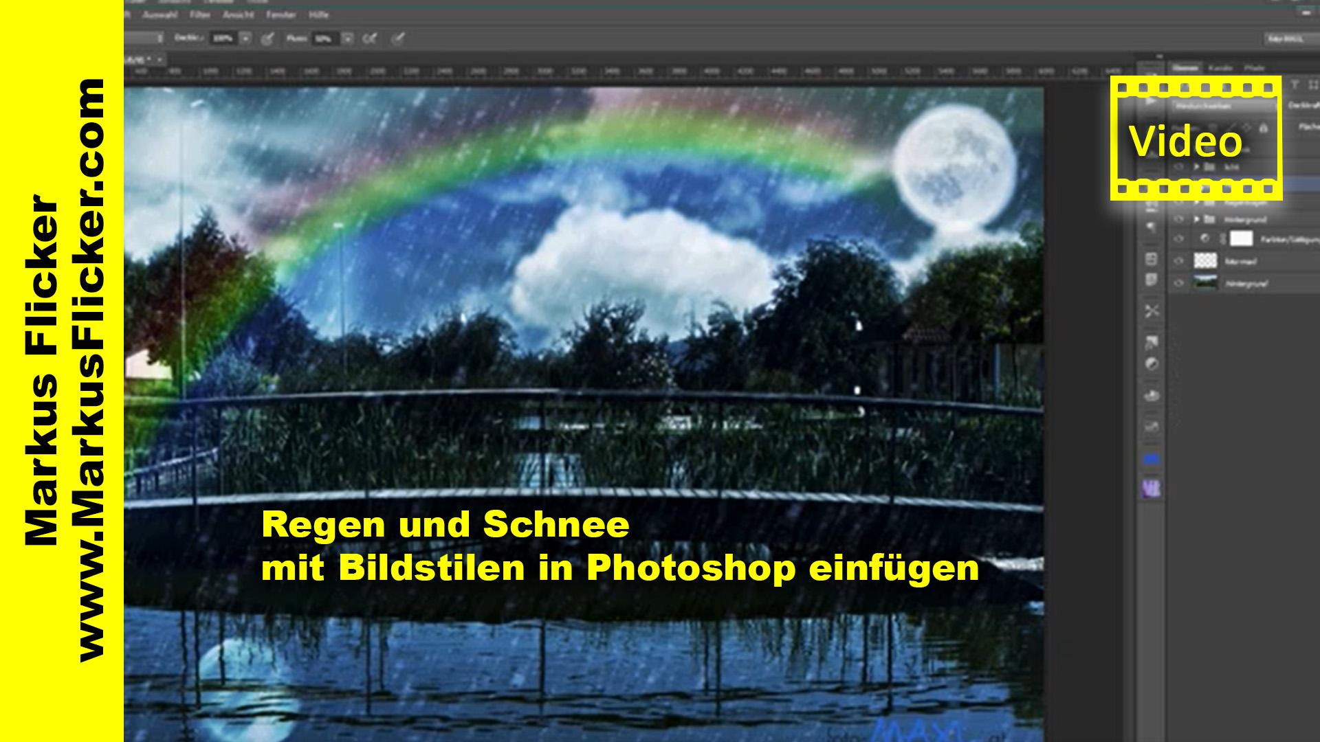 Regen und Schnee mit Bildstilen in Photoshop einfügen