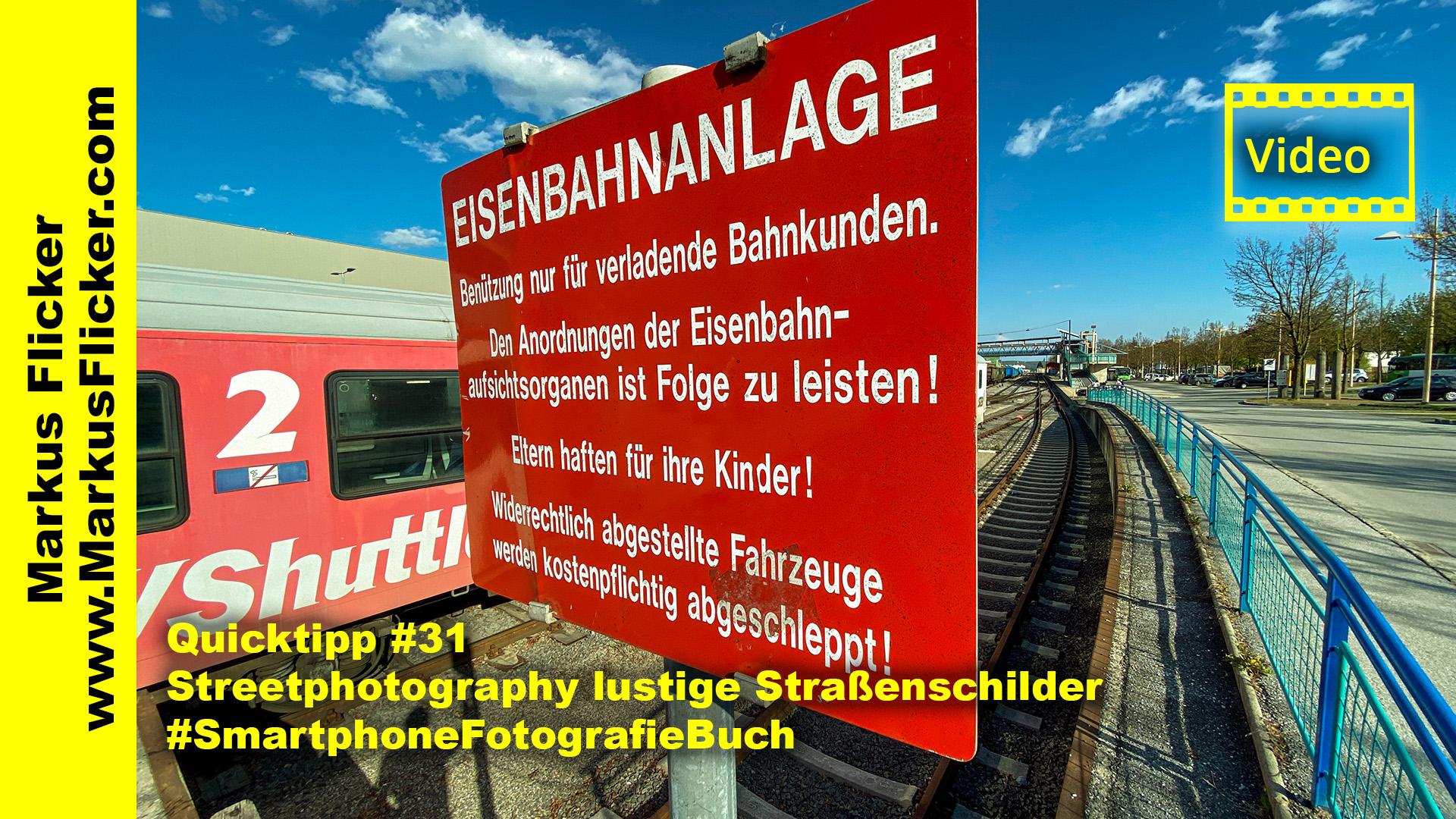 Quicktipp #31 Streetphotography lustige Straßenschilder #SmartphoneFotografieBuch #markusflicker
