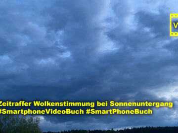 Zeitraffer Wolkenstimmung bei Sonnenuntergang